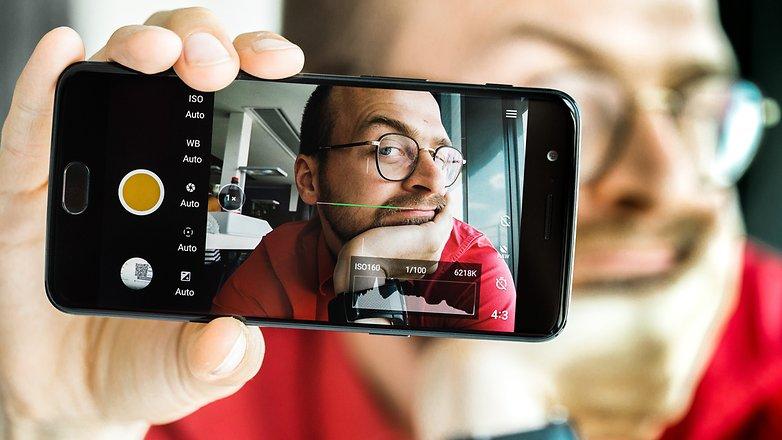 استفاده از حالت فوکوس دستی در گوشی موبایلOnePlus 5. © فون پدیا
